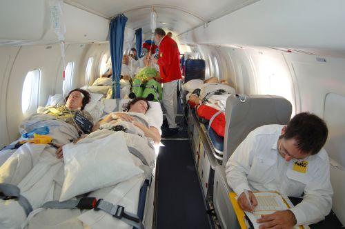 Ambulanz Jet innen